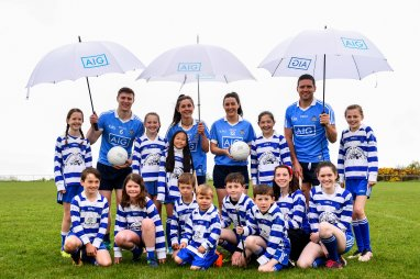 Kids at Dublin GAA AND AIG Renwal